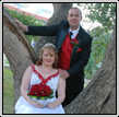Photo of Bride and Groom after wedding ceremony